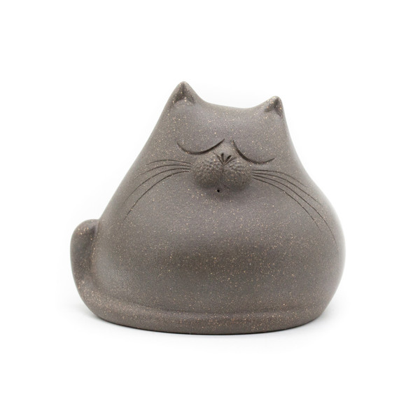 Фигурка глина Кот серый