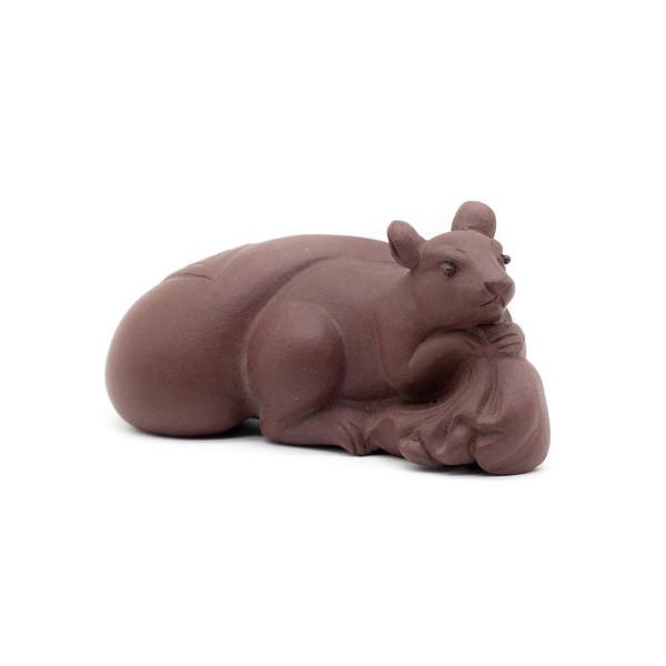 Фигурка глина Крыса с мешком