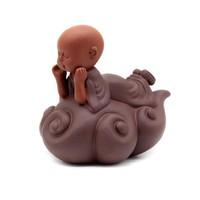 Фигурка глина Монах на облаке