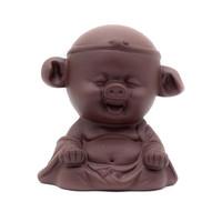 Фигурка глина Чжу Бацзе коричневый
