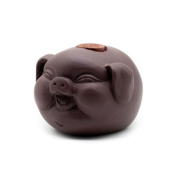 Фигурка глина Свинка с монетой