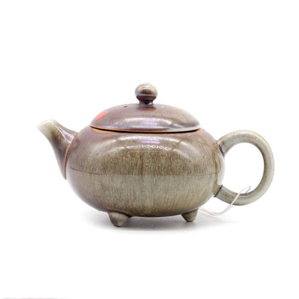 Чайник глина дровяной обжиг Огненная лавина 160 мл