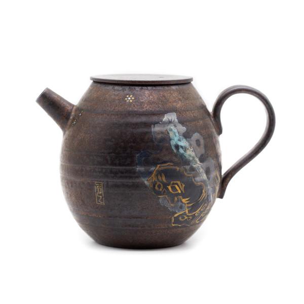 Чайник глина дровяной обжиг Жако