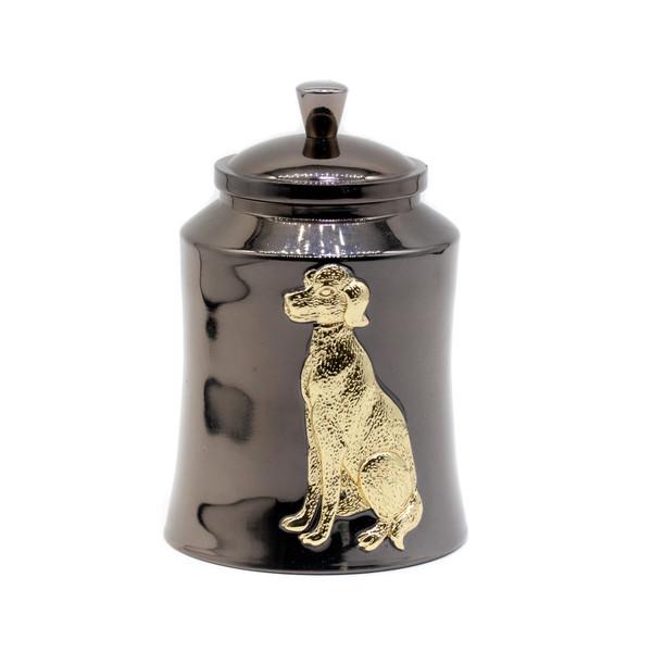 Банка для чая металл Собака
