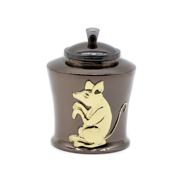 Банка для чая металл Крыса