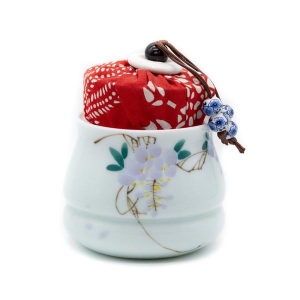 Банка для чая фарфор Бусины