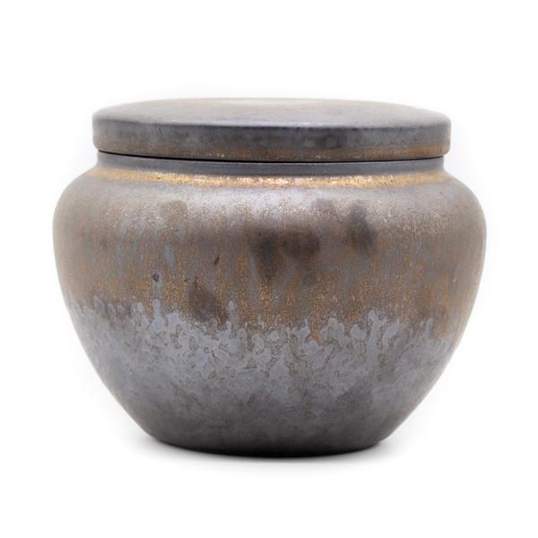 Банка для чая глина дровяной обжиг большая