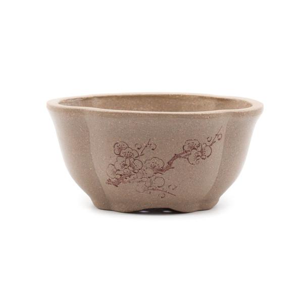 Горшок для цветов глина серая Мэй Хуа