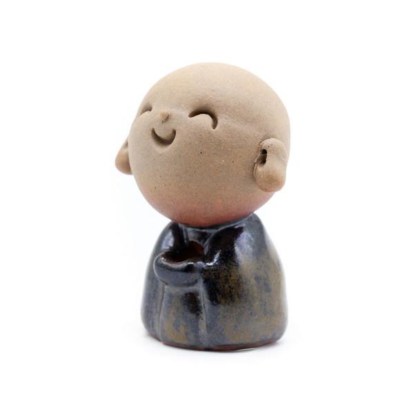 Курильница глина Мальчик-монах темный
