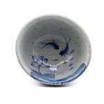 Чашка глина и глазурь колотый лёд Лотосы и рыбки 85 мл