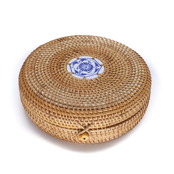 "Короб бамбук ""Фарфоровый медальон"""