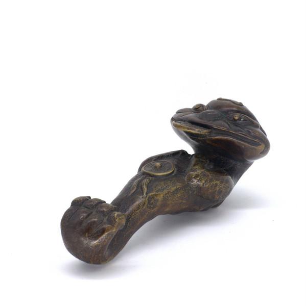 """Бронза """"Трёхлапая жаба Жезл Жу И"""""""