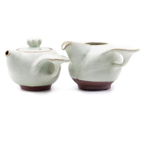 Набор глина Жу Яо чайник 190 мл и чахай