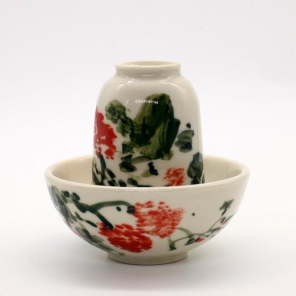 Чайная пара фарфор антиквариат Цзин Дэ Чжень 75 мл