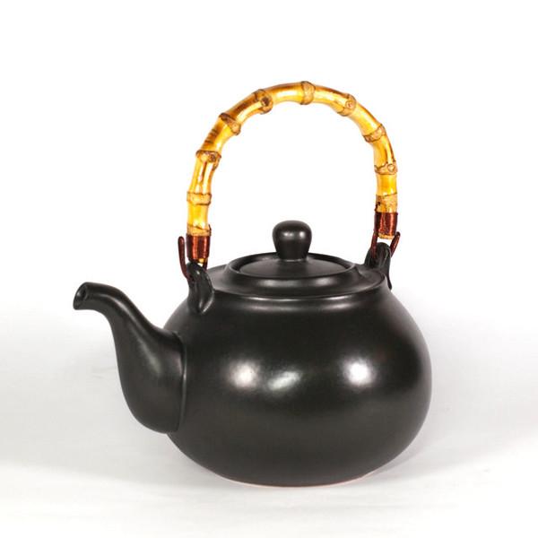 Чайник для воды глина Черный