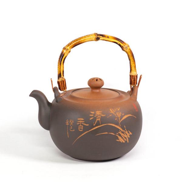 """Чайник для воды глина """"Красная печать. Орхидея"""" 1300мл"""