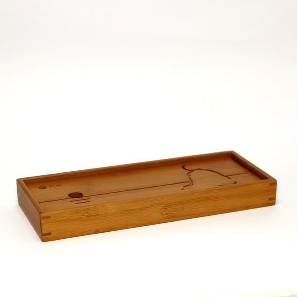 Чайный столик бамбук Лодка малая 30х12х3,5см