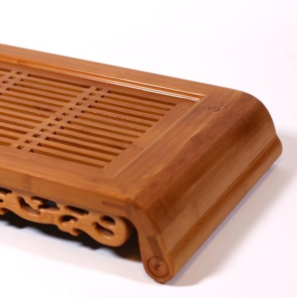 """Чайный столик бамбук """"Округлая"""""""