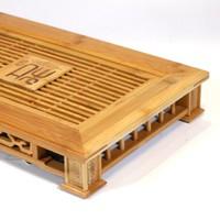 Чайный столик золотистый бамбук