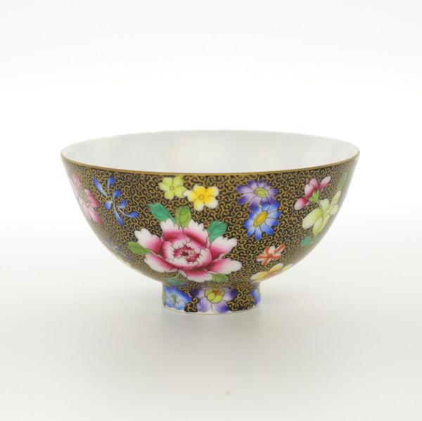 """Чашка фарфор Цзин Дэ Чжэнь """"Цветы"""" 100 мл"""