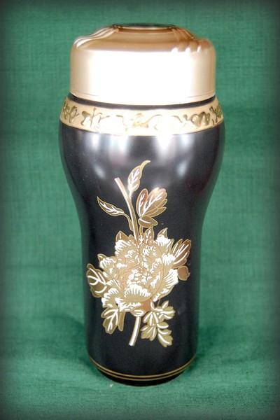Термос кружка фарфор Золотой пион 190 мл