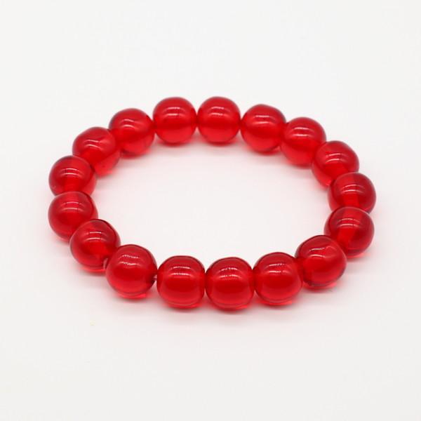 Четки-браслет , Янтарь, Красный прозрачный