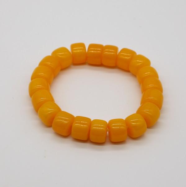Четки-браслет , Янтарь, Бочонок жёлтый