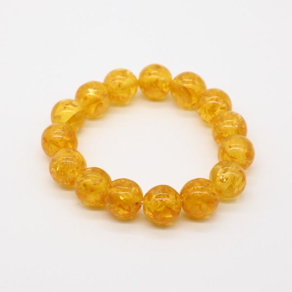 Четки-браслет , Янтарь, Калёный жёлтый