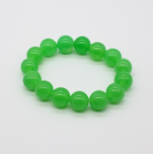 Четки-браслет , Янтарь, Зелёный непрозрачный