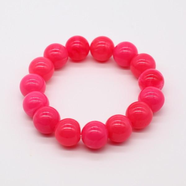 Четки-браслет янтарь розовый