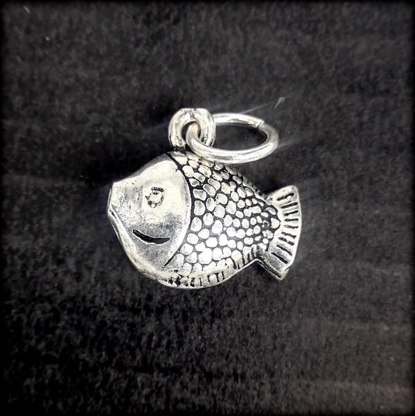 Подвеска из серебра, рыба, ЭМ168