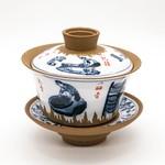 """Гайвань глина """"Процесс изготовления чая"""" 160 мл"""