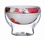 """Набор """"Алые цветы, фарфор и стекло Eilong"""" чайник + чахай + 6 чашек"""