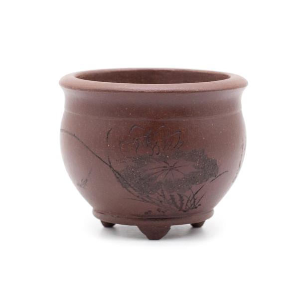 Горшок для цветов глина Лотос