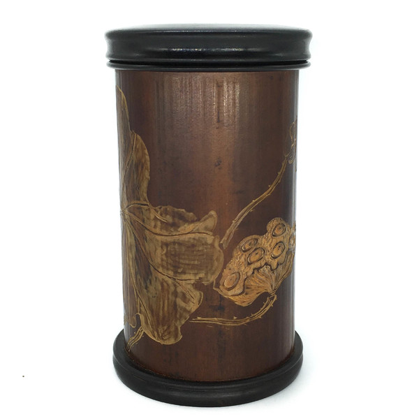 Банка для чая бамбук Распускающийся лотос