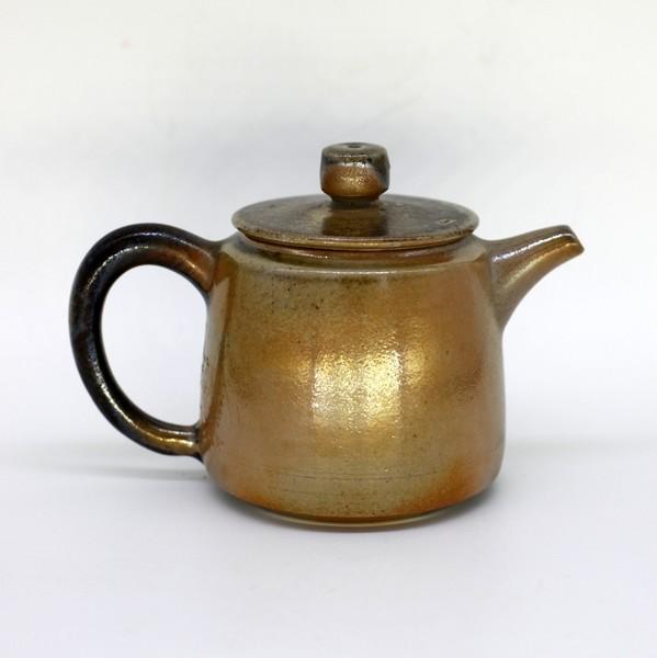 Чайник глина дровяной обжиг Золотой 150 мл