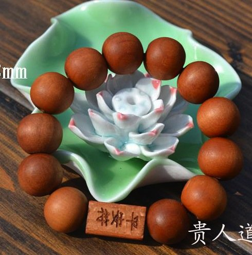 """Четки-оберег персиковое дерево Тао Му """"Мир и Благополучие"""""""