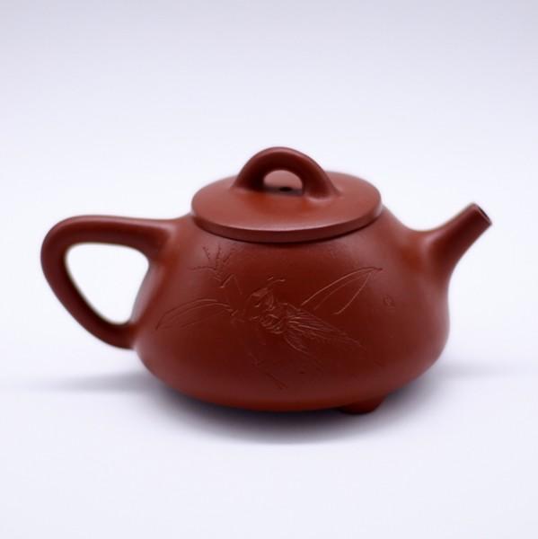 """Чайник глина коричневая """"Ши Пяо Кузнечик и бамбук"""" 120 мл"""